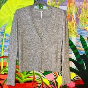 Cashmere Free People Gray Cardigan